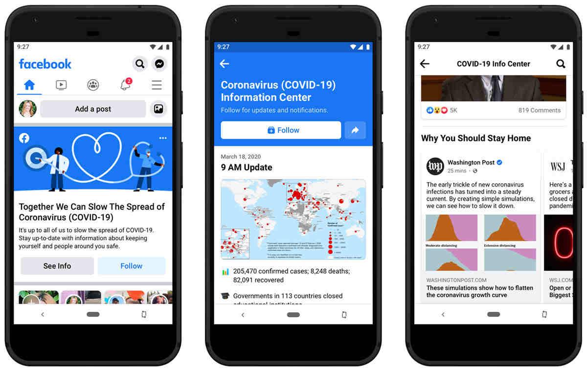 Facebook y Twitter toman nuevas medidas para informar sobre el coronavirus