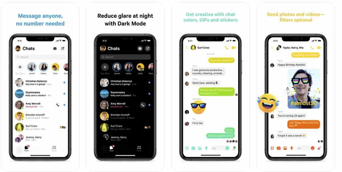 Llega el nuevo Messenger de Facebook, más rápido, ligero y simplificado, a iOS