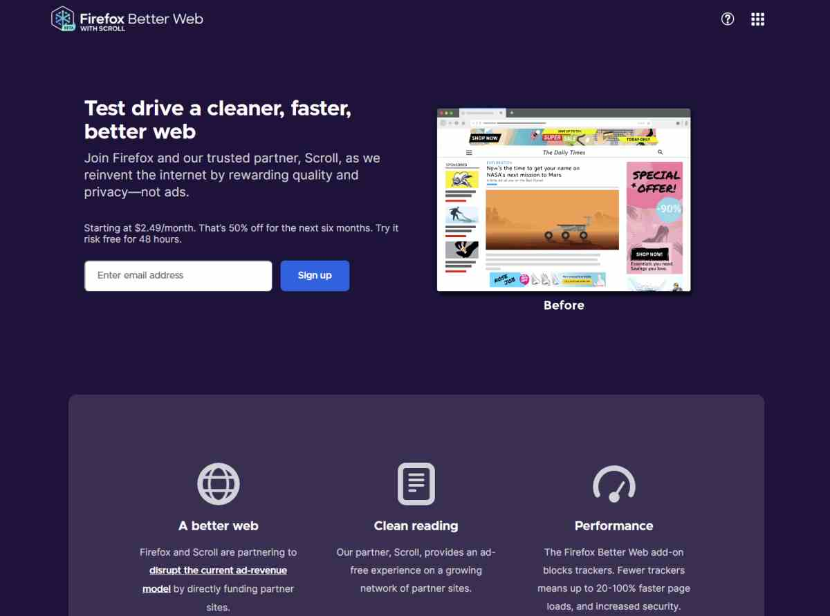 Firefox Better Web, lo último de Mozilla para tener una mejor experiencia web por suscripción