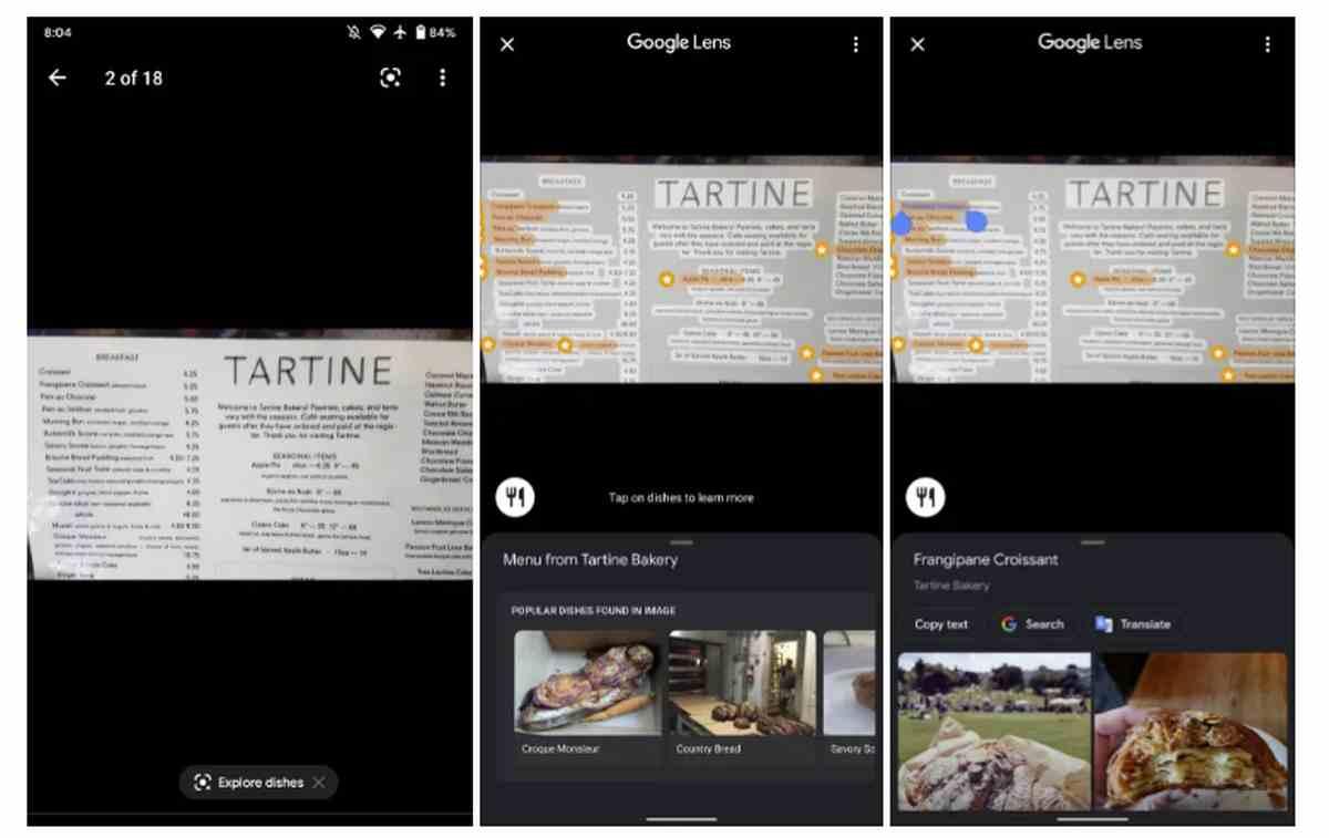 Google Lens llega ahora a Google Maps en Android para la lectura de las cartas de restaurantes