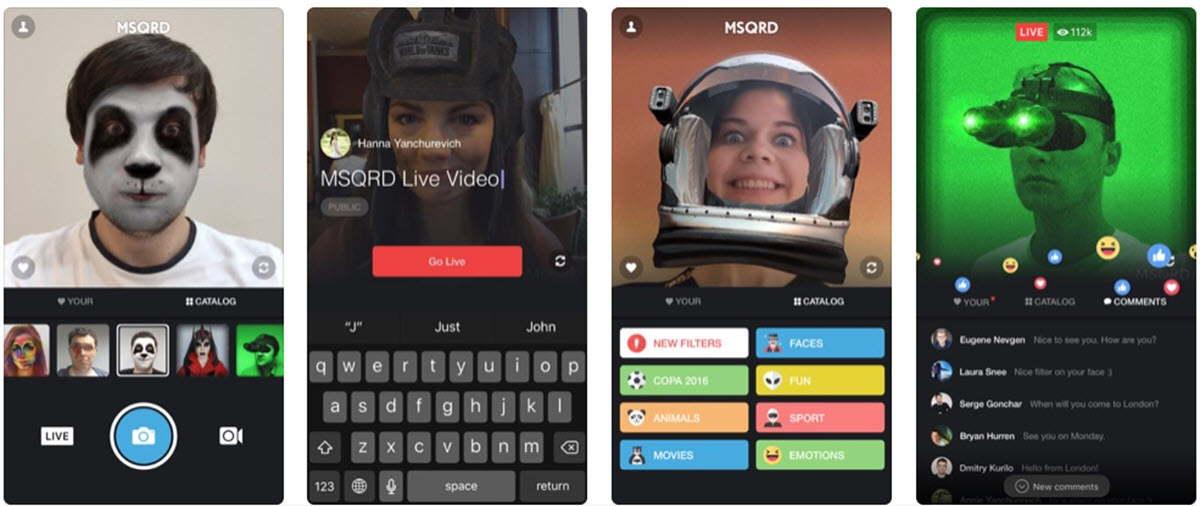 Facebook cerrará su app para aplicar filtros al estilo Snapchat