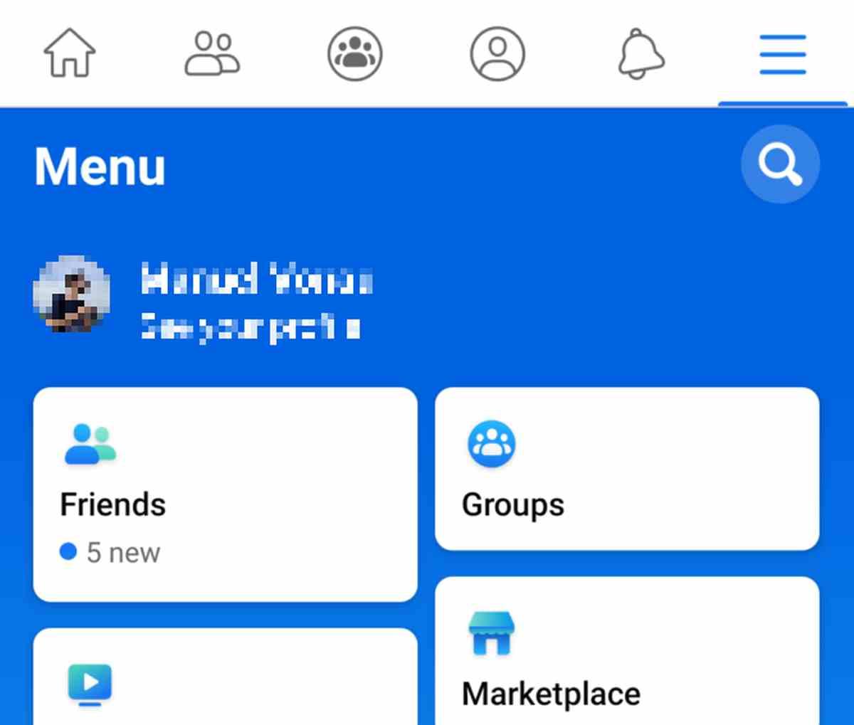 Facebook realiza importantes cambios en el menú de su aplicación