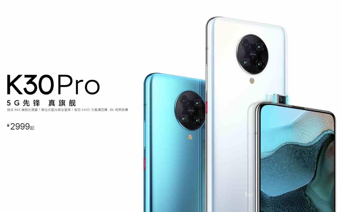 Así son los nuevos Redmi K30 Pro 5G y K30 Pro 5G Zoom Edition