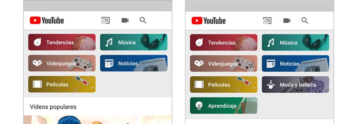 YouTube tiene una nueva sección para descubrir contenidos desde el móvil