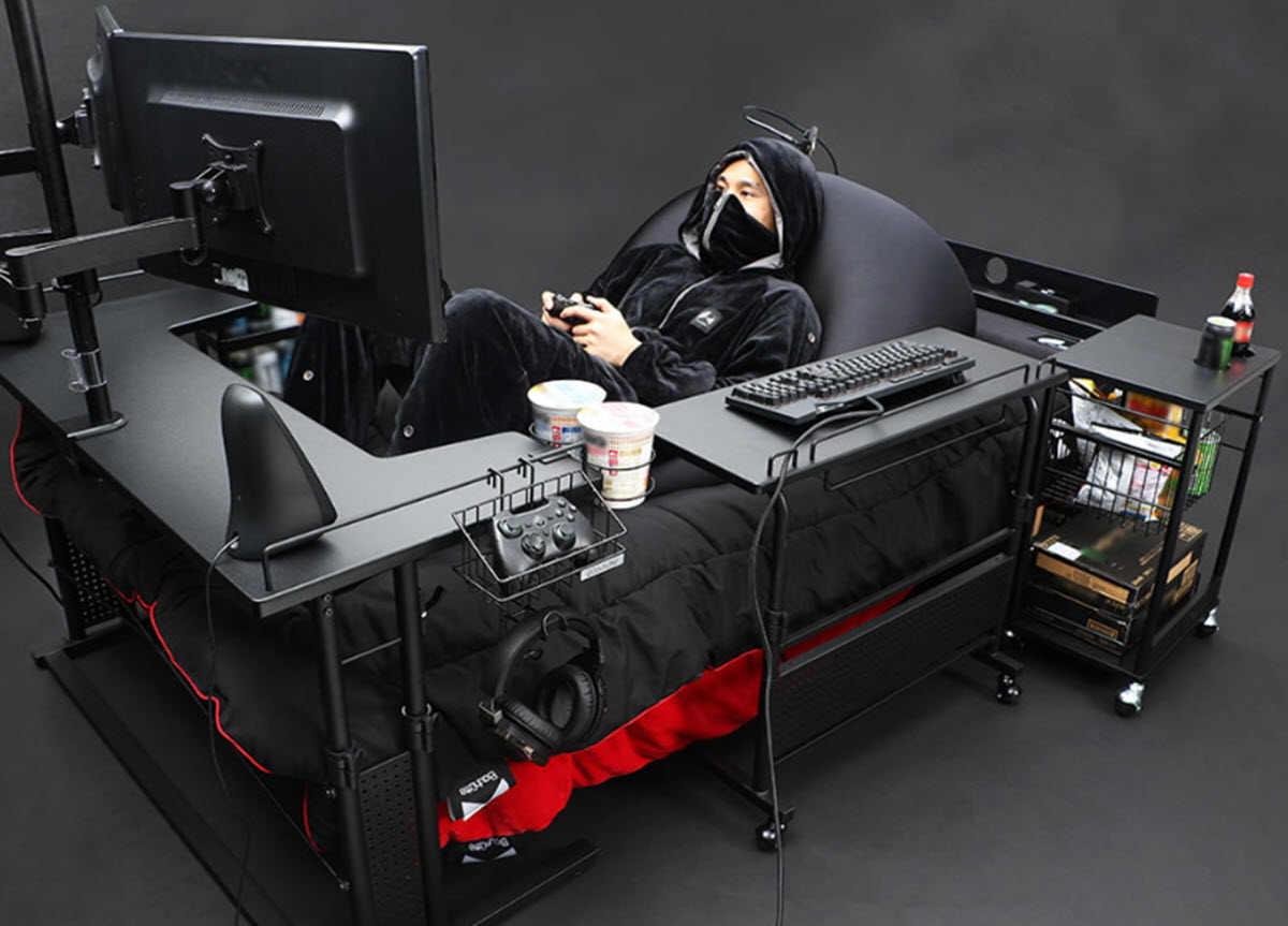 Una cama para que los gamers nunca abandonen sus sesiones de juego