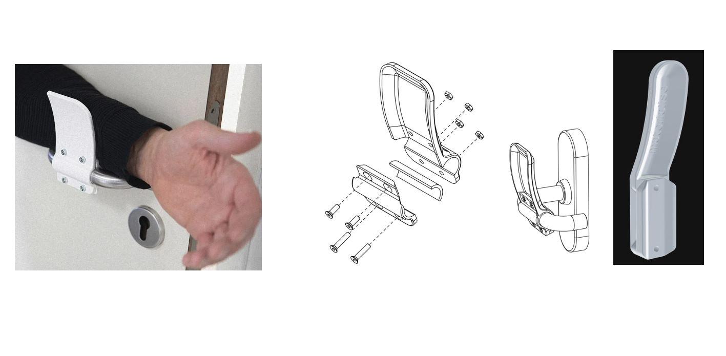 Imprime este invento en 3D para abrir las puertas sin las manos
