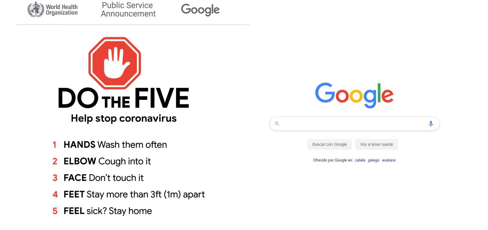 El lunes se lanzará el portal de Google sobre el coronavirus