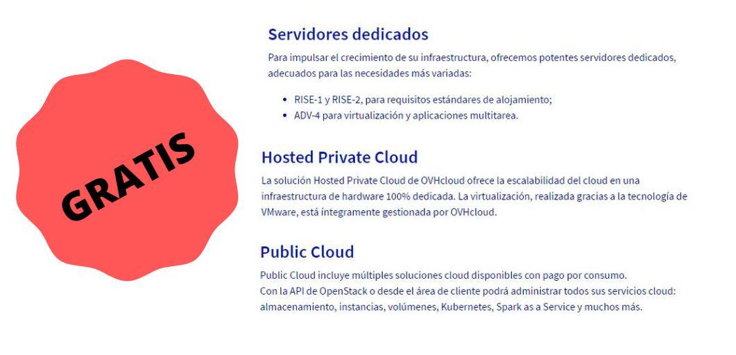 Servicios gratuitos de infraestructura de web y cloud durante la cuarentena