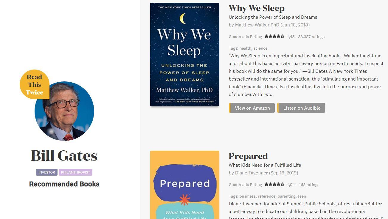 Recomendaciones verificadas de libros de personas a las que admiramos