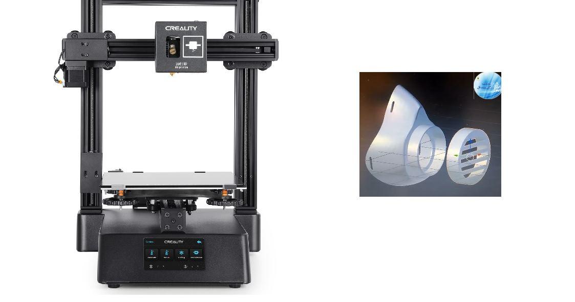 Para imprimir mascarillas de seguridad usando una impresora 3D