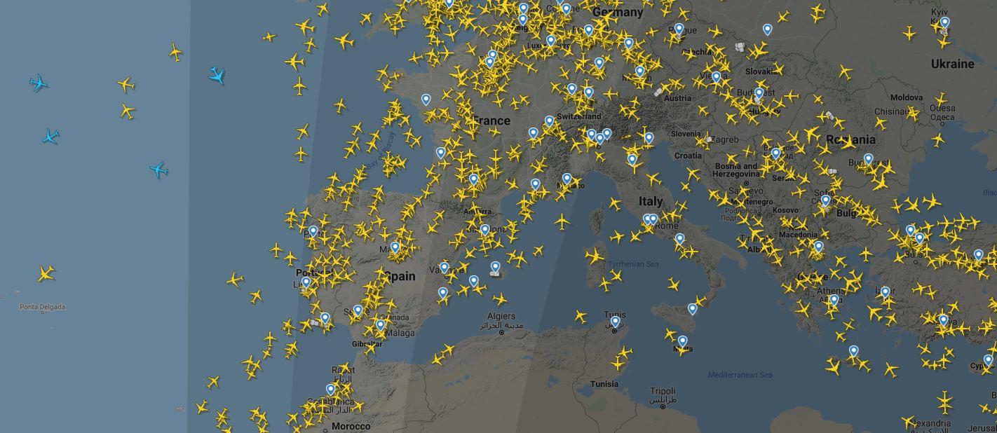 FlightRadar24 y su nueva actualización con seguimiento de vuelos vía satélite