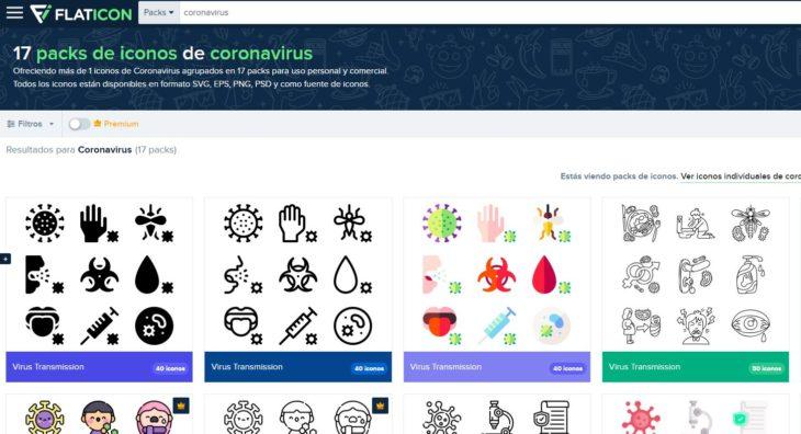 iconos coronavirus
