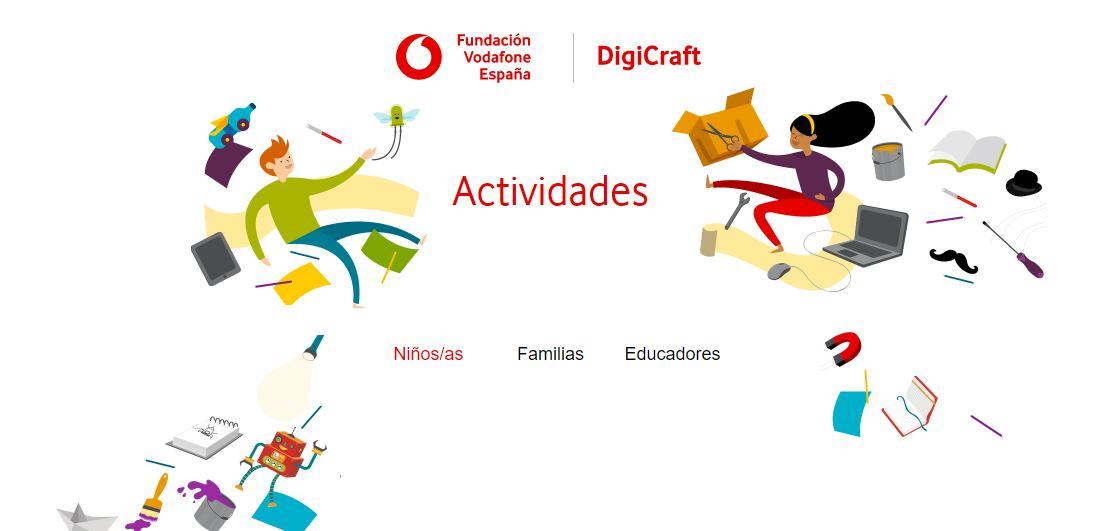 Digicraft, actividades de competencias digitales para niños y familias