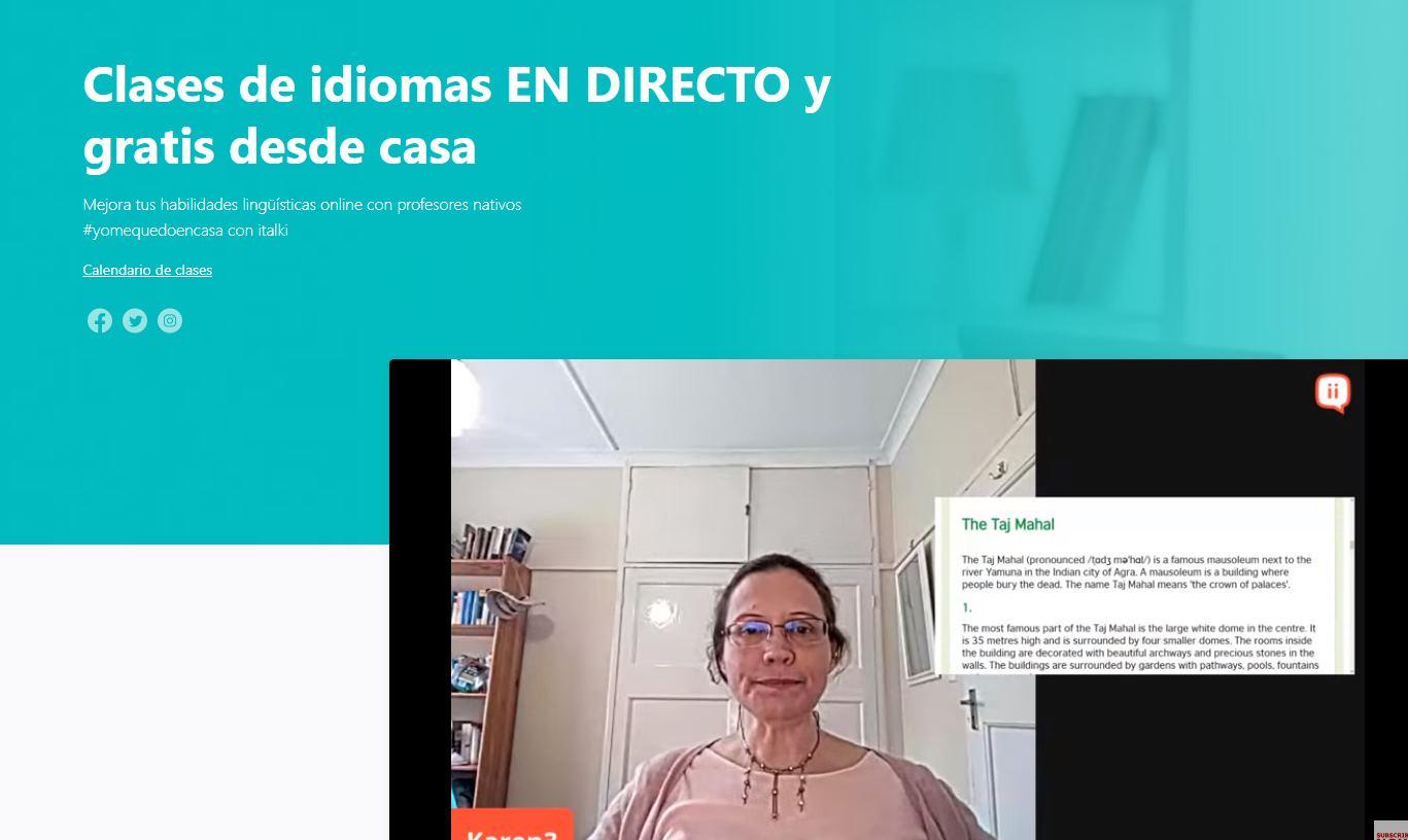 Clases de idiomas, en directo y gratis, para hacer durante la cuarentena