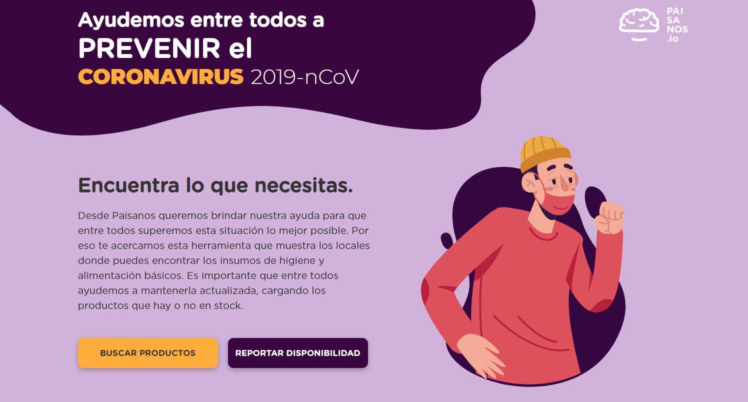 InfoVid – Para encontrar productos en tiempos de cuarentena