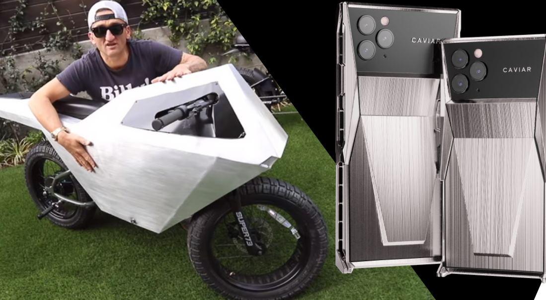Una bicicleta eléctrica y un móvil inspirados en el Cybertruck de Tesla