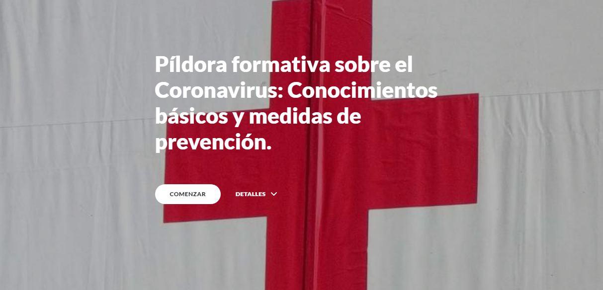 La Cruz Roja publica curso online gratuito sobre el coronavirus
