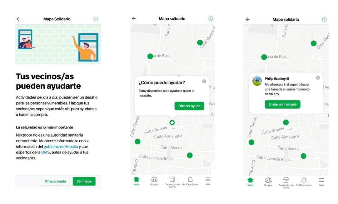 Nextdoor presenta un mapa solidario para aumentar la ayuda entre vecinos