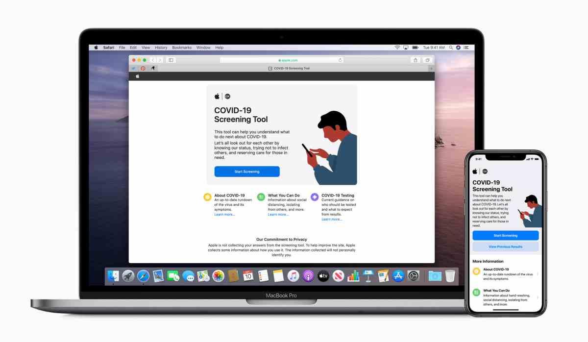 Apple lanza una herramienta con test y guías sobre el Covid-19