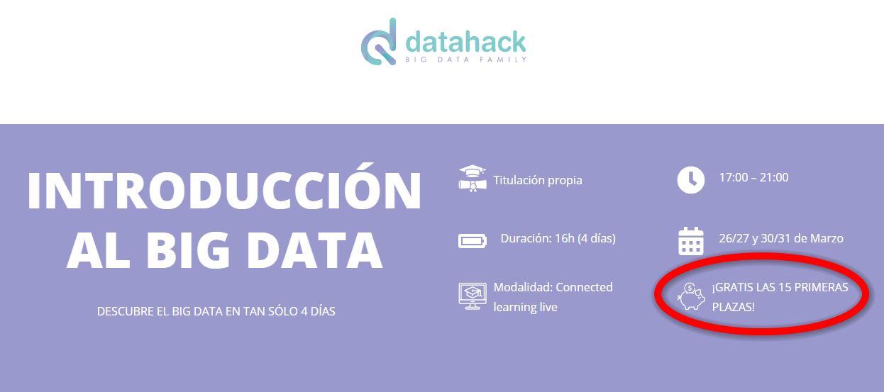 Curso gratis de Big Data y Analytics, para que aproveches el tiempo