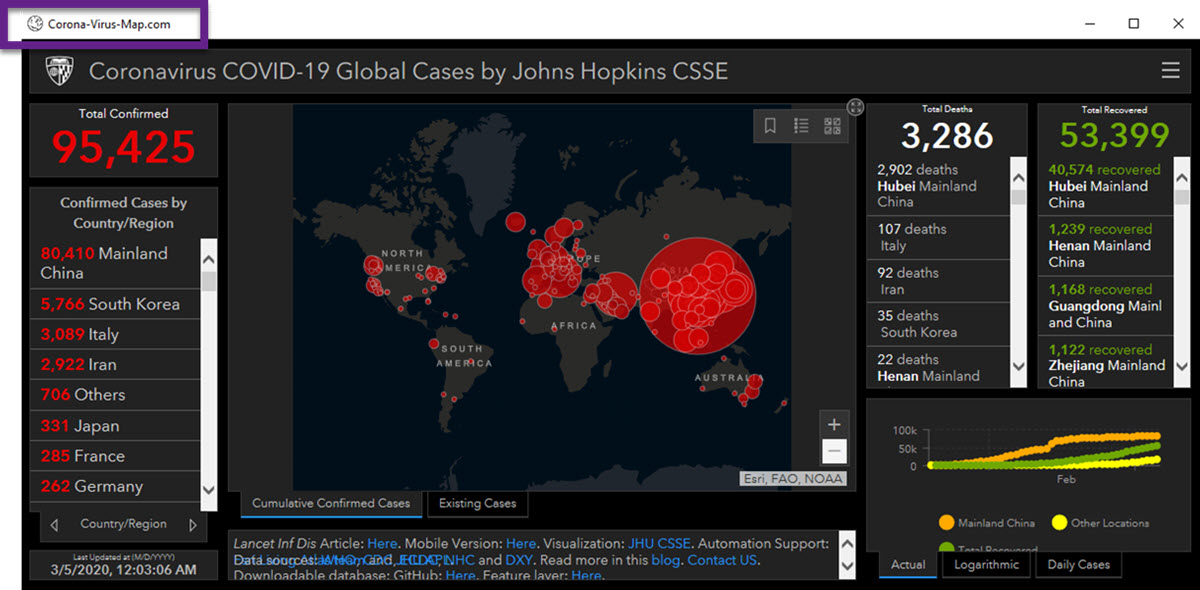 mapa falso de coronavirus