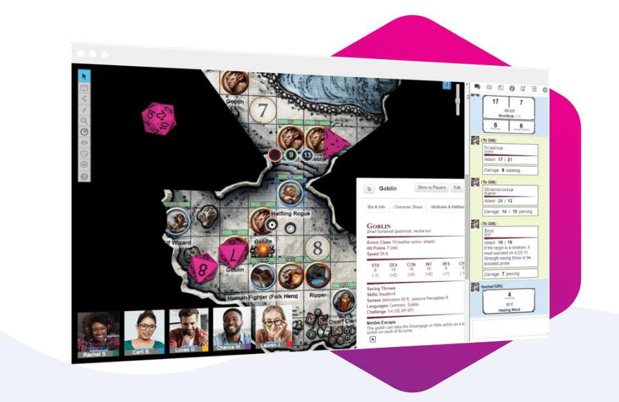 Roll20, un tablero para juegos de mesa y de rol en línea
