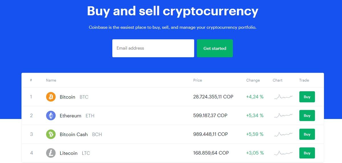 criptomonedas coinbase