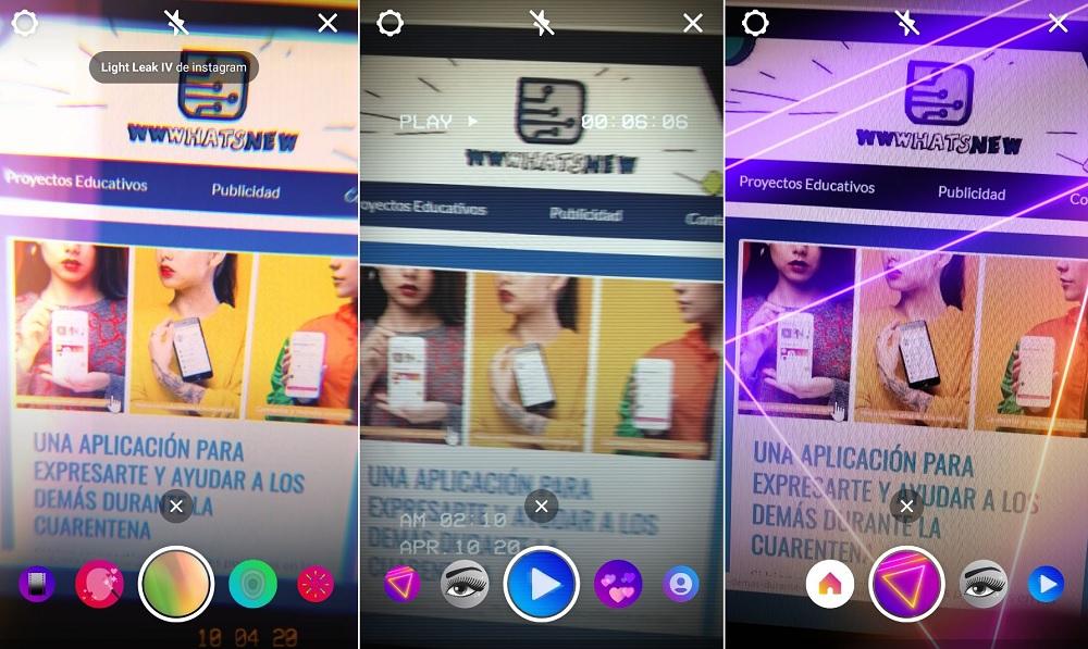 Cómo ver y utilizar los efectos para las Historias de Instagram