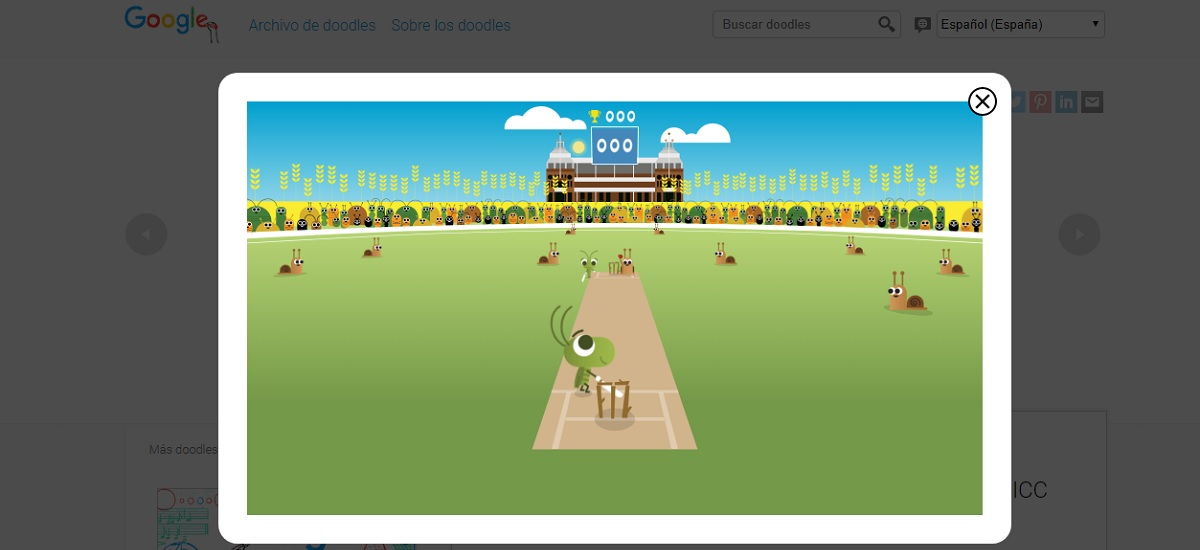 Cricket juego Doodle