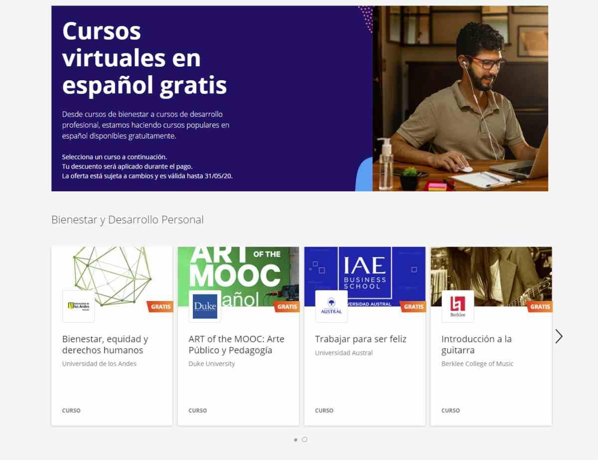 Coursera oferta cursos online con certificación gratuitos para aprovechar el confinamiento