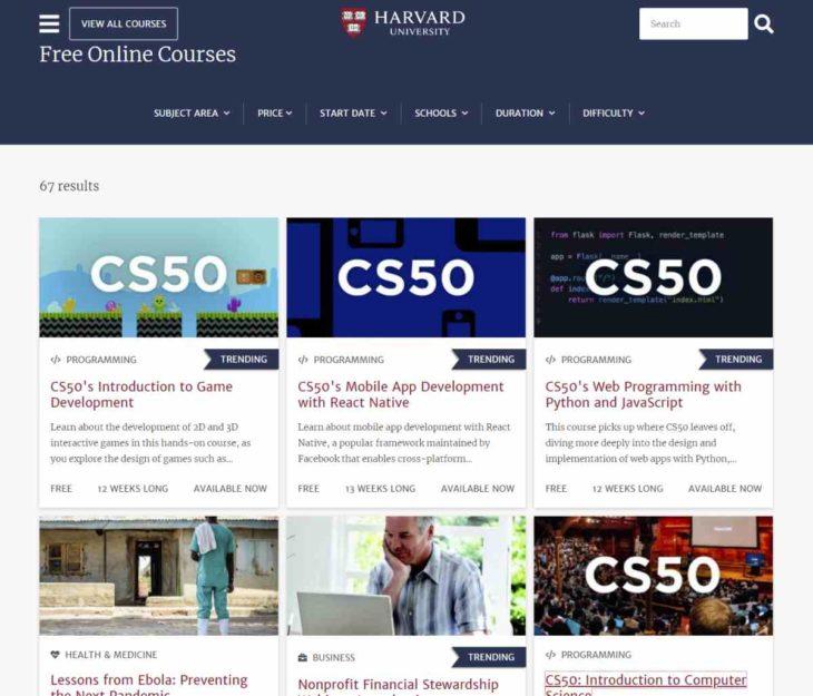 La Universidad De Harvard Ofrece Mas De 300 Cursos Gratuitos Para Este Ano
