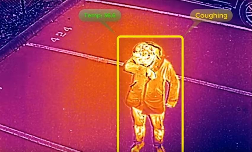 El drone que puede detectar la fiebre, la tos y otros síntomas