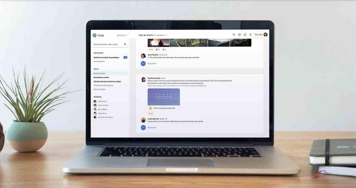 Hangouts Chat ya permite crear copias de mensajes en Gmail