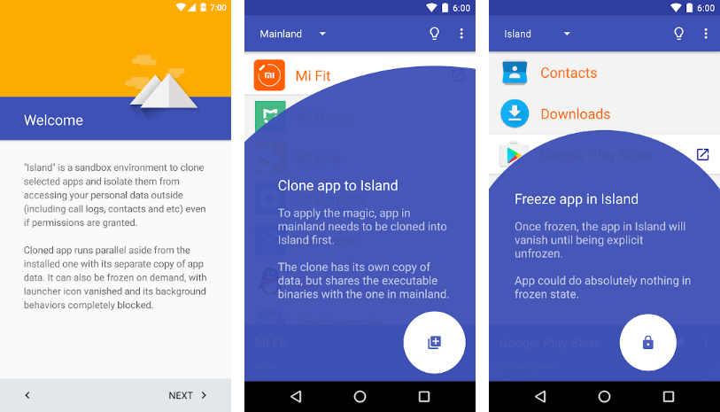 Island en Google Play