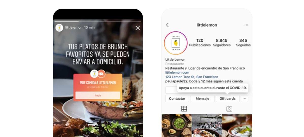 Instagram lanza nuevas opciones para ayudar a los negocios durante la crisis del coronavirus