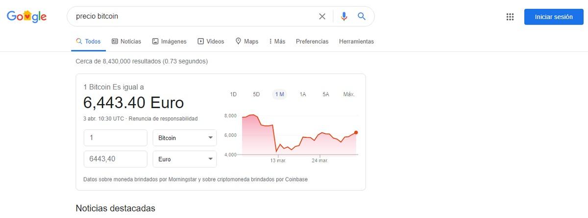 criptomonedas google
