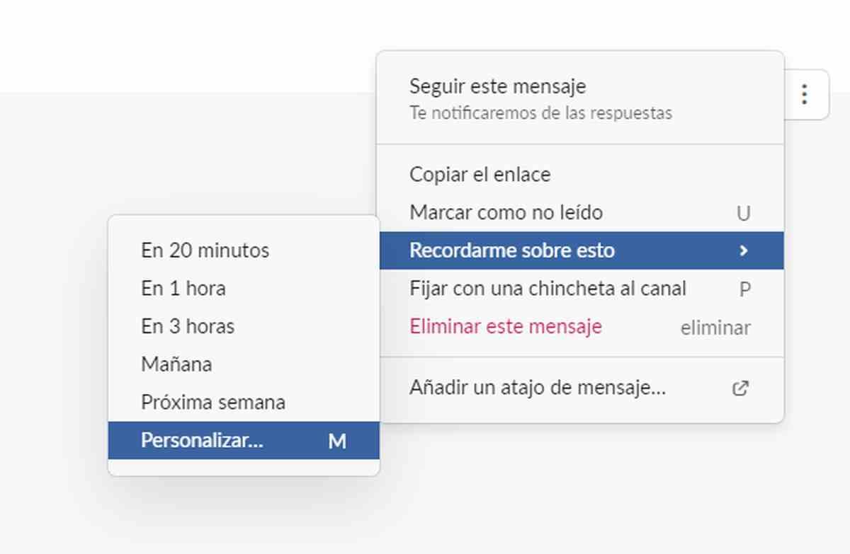 Slack ya permite fijar fechas y horas personalizadas para los recordatorios de mensajes
