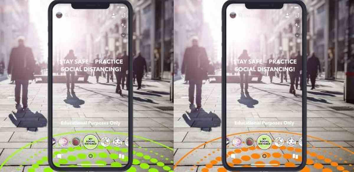 Snapchat estrena lentes para fomentar el distanciamiento social y las medidas de higiene