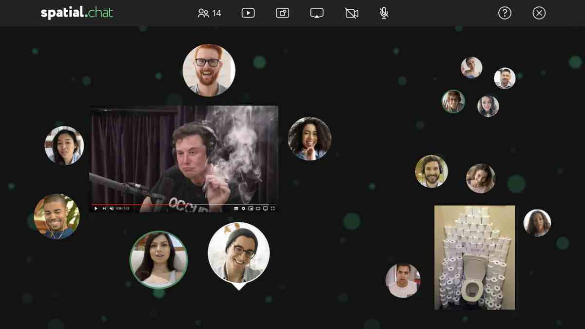 SpatialChat, para crear salas de chat de vídeo para «fiestas» virtuales de hasta 50 personas