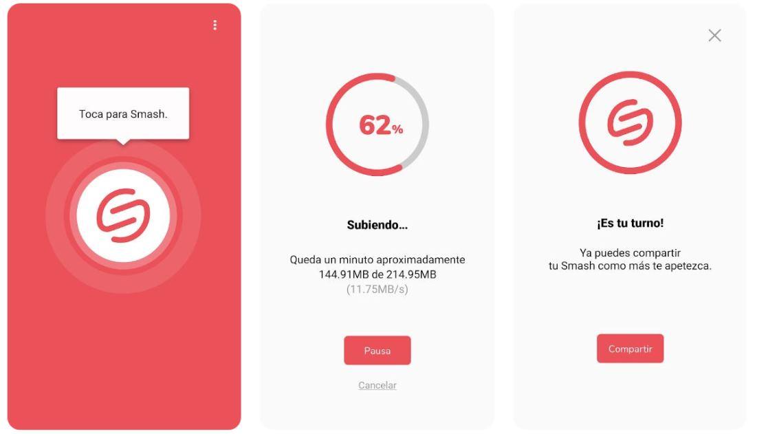 Smash para android y iOS, para enviar muchos archivos y grandes