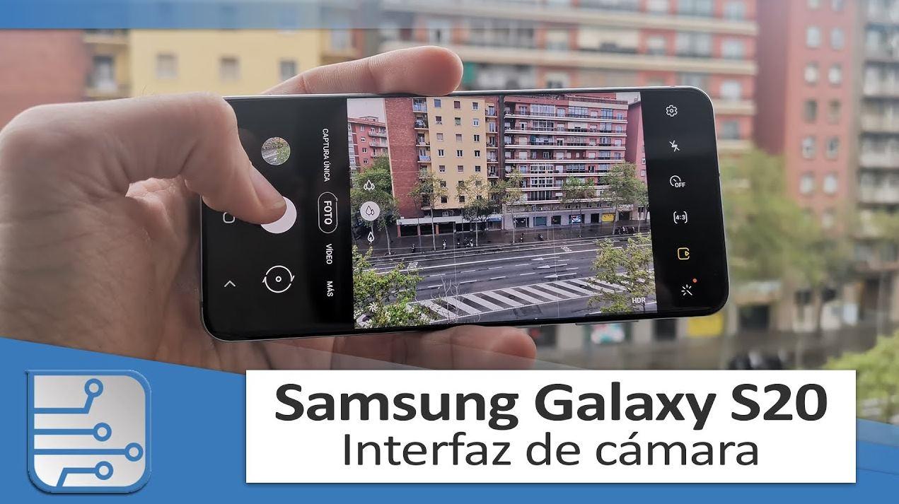 Detalles de la interfaz de cámara del Samsung Galaxy S20