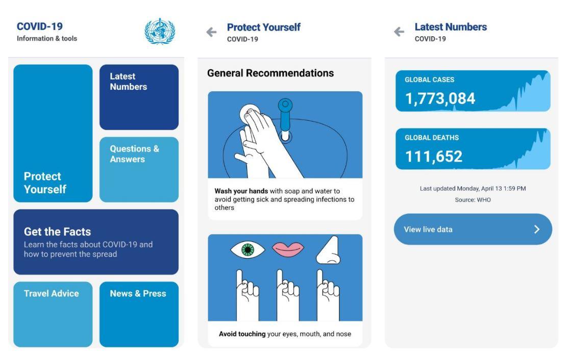 La OMS tiene app oficial sobre el coronavirus