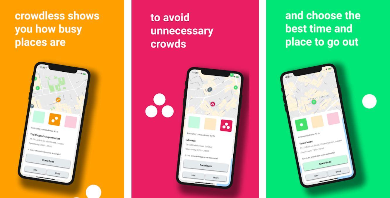 Crowdless, una app que nos dice dónde hay aglomeraciones de personas