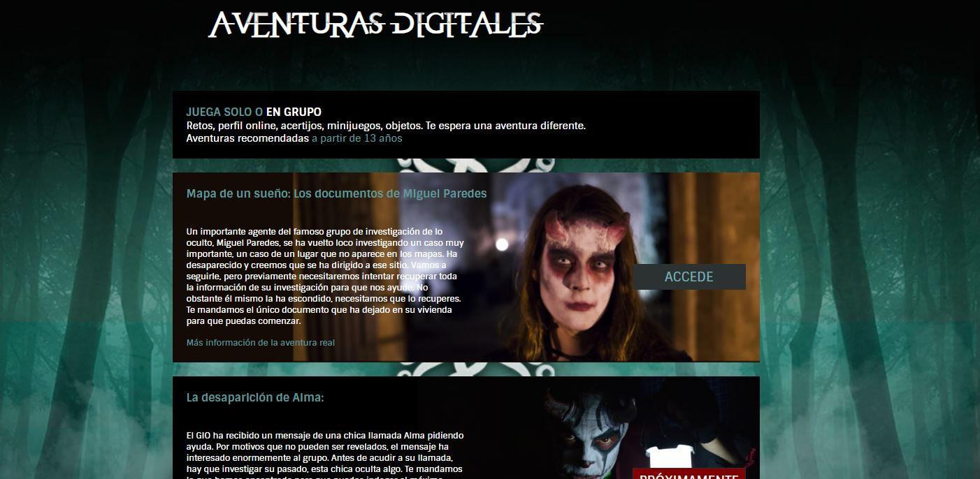 Nueva aventura digital gratuita de Paranormal Adventures