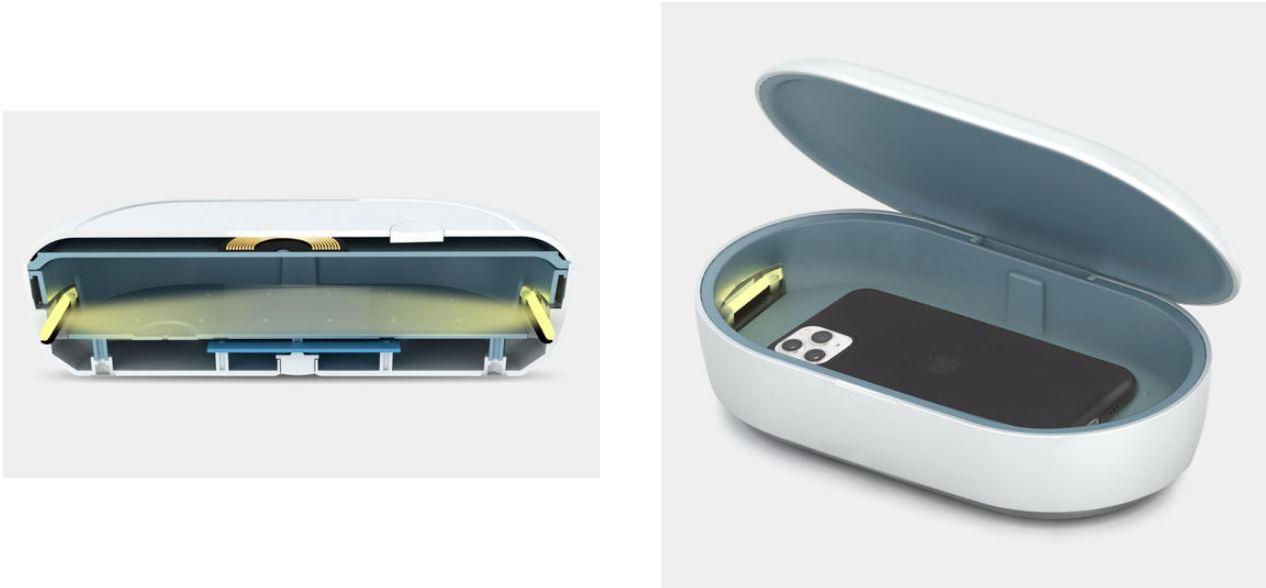 Un dispositivo que mata las bacterias del móvil y además lo carga