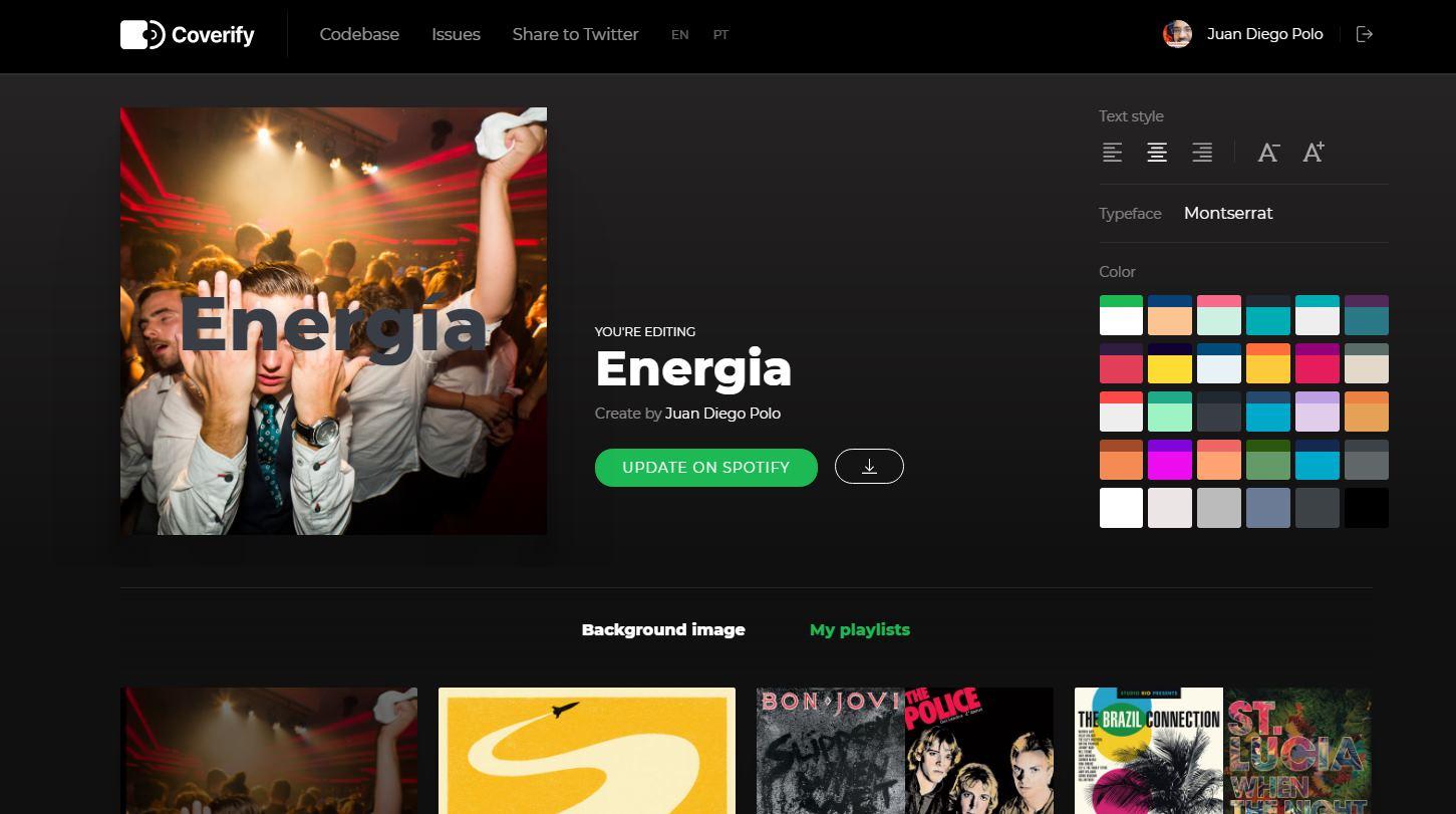 Una web para modificar la imagen de nuestras listas de Spotify