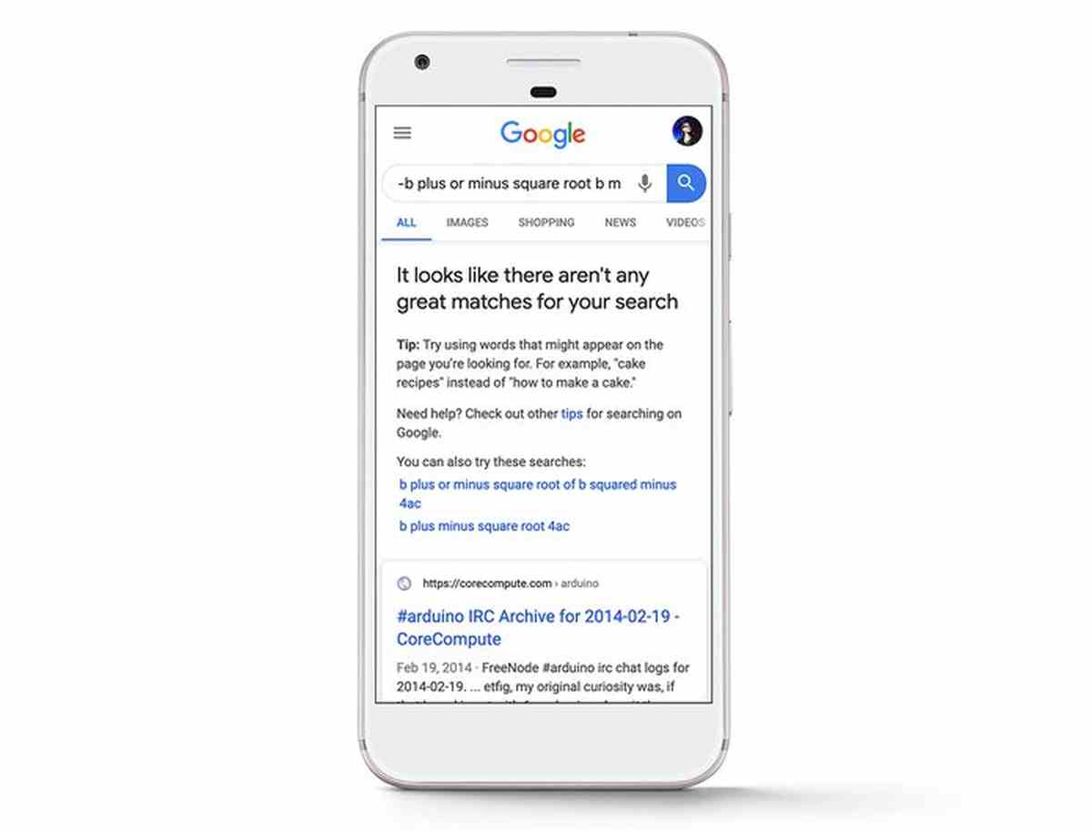 Google avisará cuando no encuentre resultados coincidentes con las búsquedas