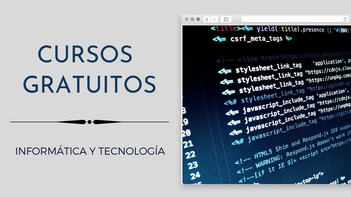 26 cursos gratuitos de tecnología para comenzar en mayo