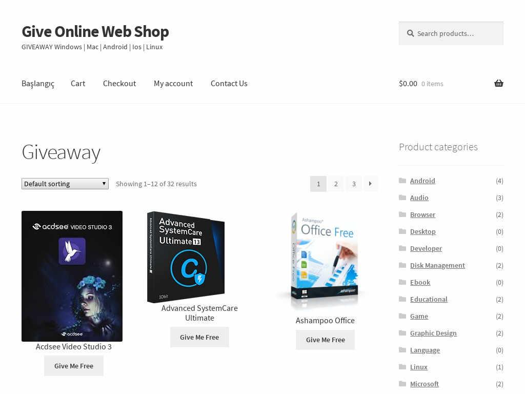 Give Online Webshop