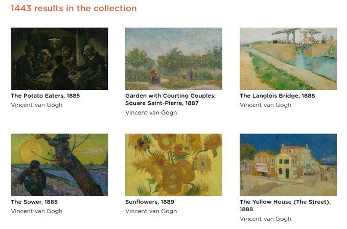 Digitalizaciones de Van Gogh en la web